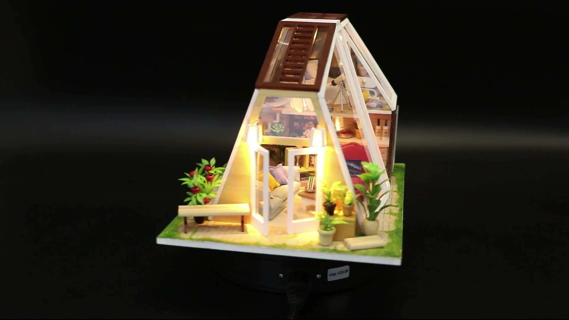 คริสต์มาสของขวัญงานฝีมือ 3d ชุดของขวัญ dollhouse miniature architectural scale รุ่น
