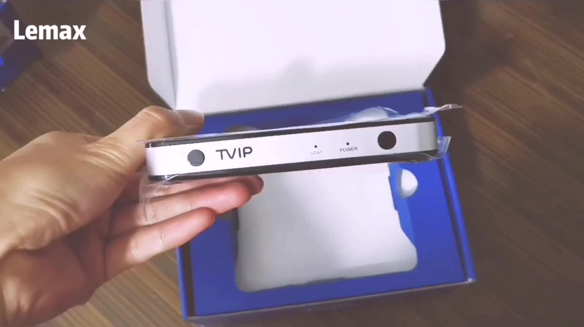 ベストセラーオリジナル TVIP 605 1 ギガバイト 8 ギガバイトミニデュアル Os アンドロイド/Linux tv ボックス Amlogic S905X アラビア wifi の Airplay IPTV ストリーミングボックス