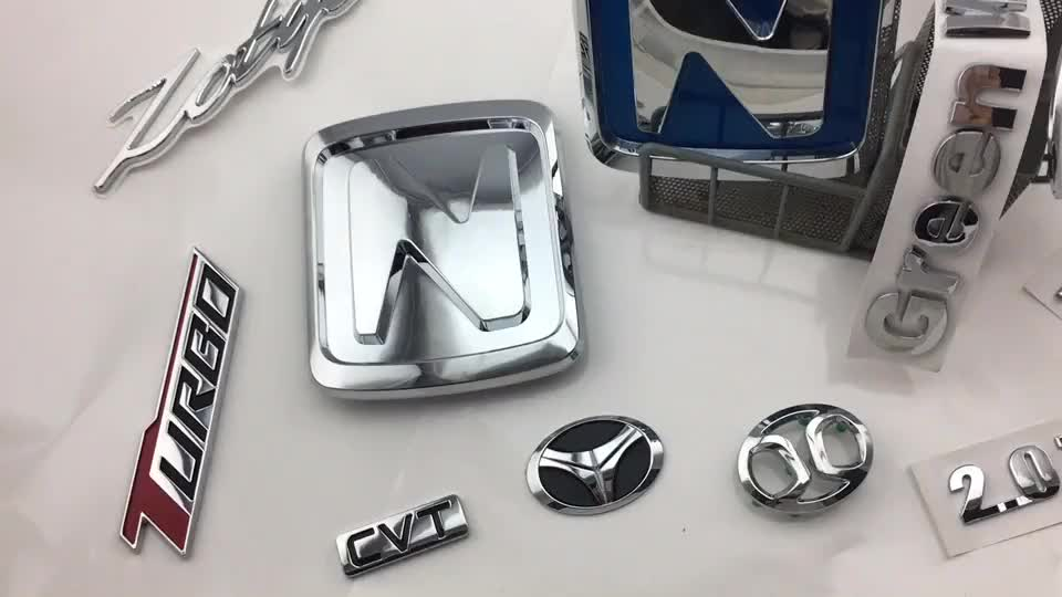 25Years Manufacture Custom Made Chrome Plastic Car Emblem Badges Auto Emblems car badge stickers Car Grill Badges Emblems