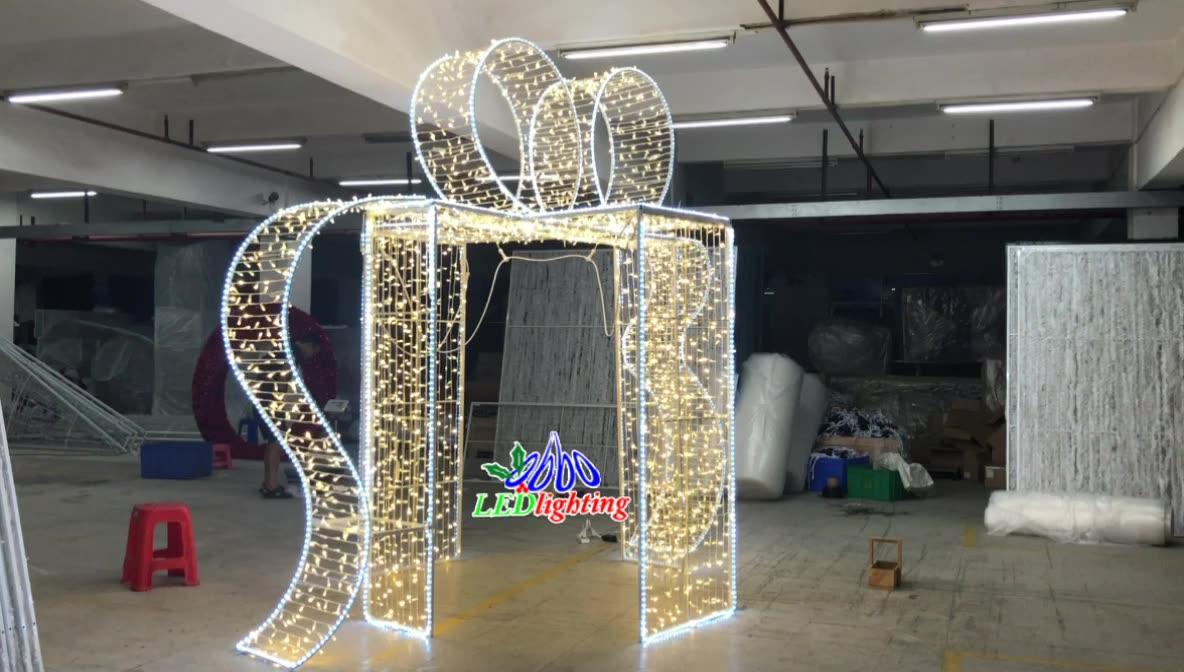 Obbo 中国 3d モチーフライトクリスマス装飾ギフトボックス led ライト