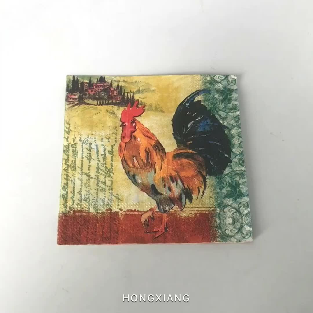 Matéria prima de alta qualidade impressa guardanapos de papel especiais de jantar