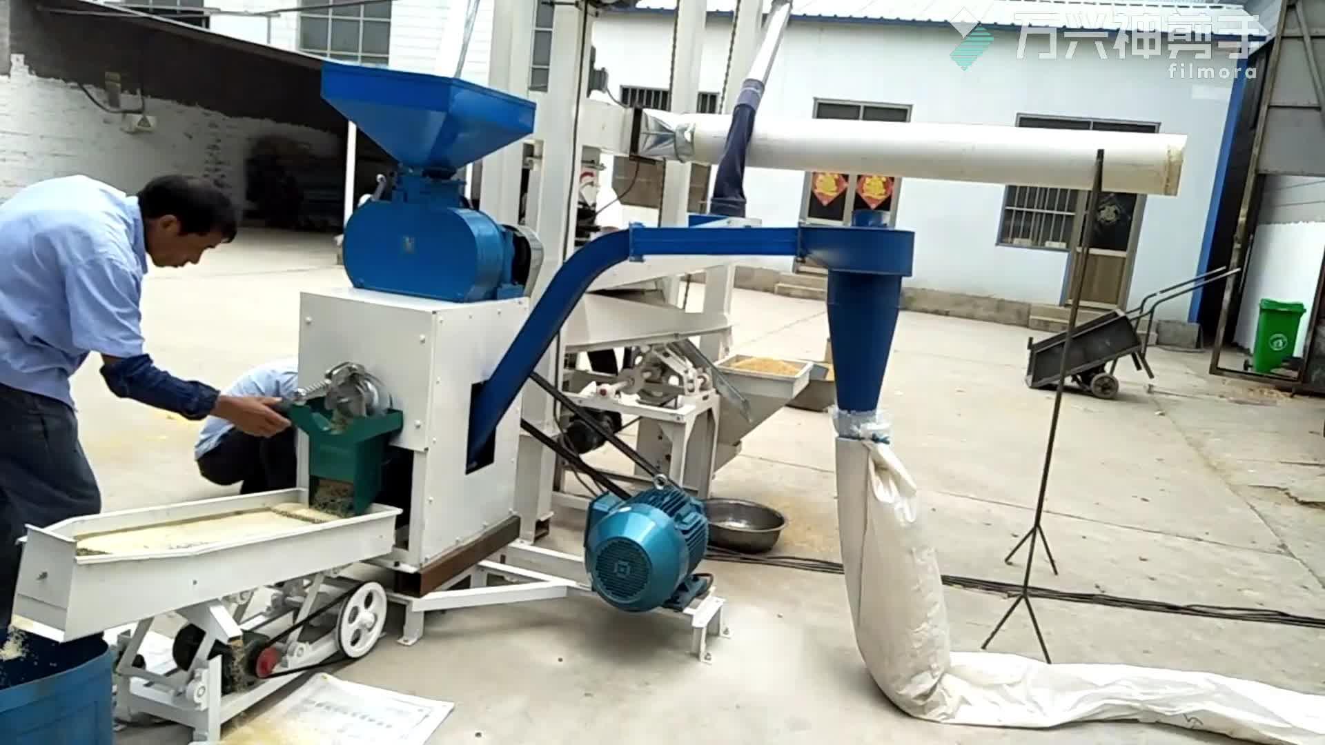 500 kg/एच वाणिज्यिक चावल मिलिंग मशीन/चावल मिल उपकरणों