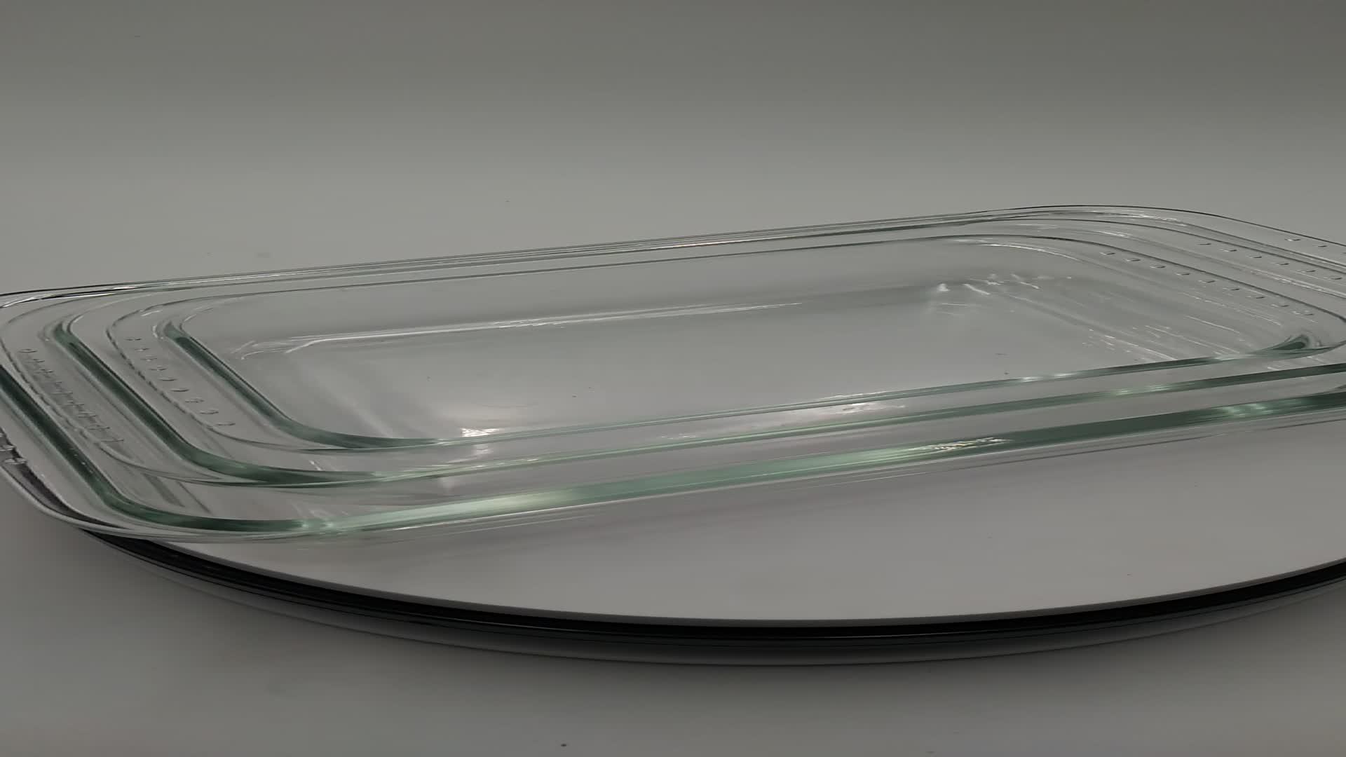 Cao thủy tinh Borosilicate ovenware an toàn baking tấm/Hình Chữ Nhật Borosilicate glass baking pan bakeware 0.8L-4L