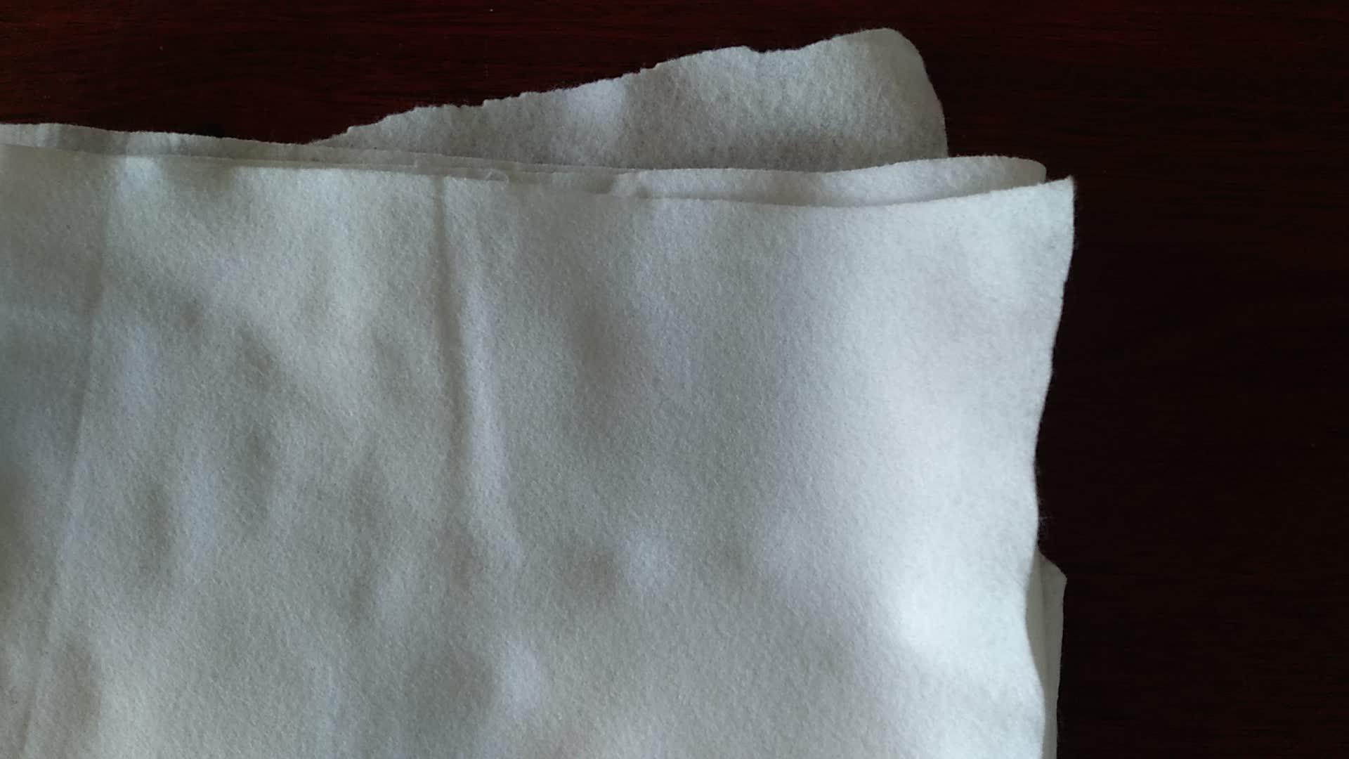 Couleur blanche Biodégradable 100% fibre PLA feutre