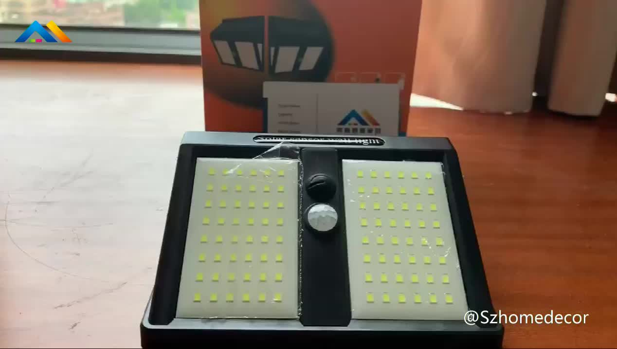 2019 New Update 146 LED Solar PIR Motion Sensor Bright Rechargeable Light With Wide Angle