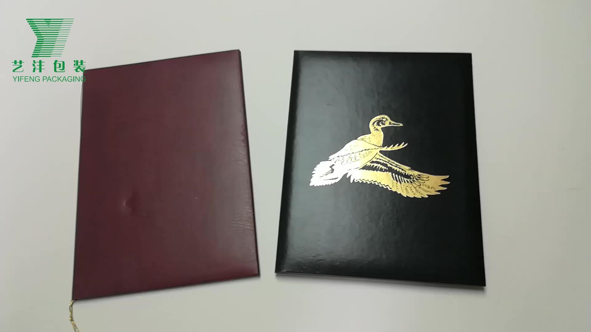 골판지 leatherette 종이 폴더 메뉴 커버 9.5x11.6 더블 패널 메뉴 홀더 사진 앨범 코너