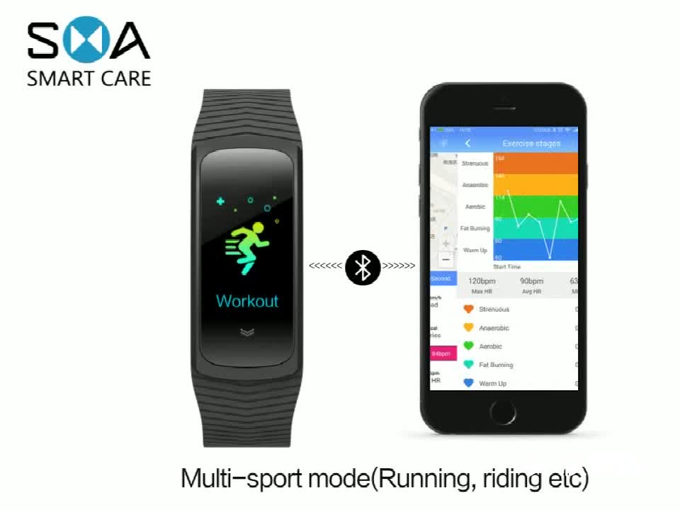 Special Offer OEM/ODM Color Screen IP68 Multi Sports B3 Accurate Heart Rate Smart Bracelet with Weather