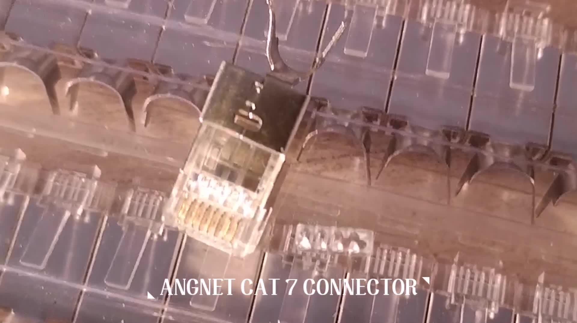 1.5mm Tel Delik RJ 45 Cat 7 Konnektör Fişi Korumalı Cat6a Cat7 RJ45 Fiş