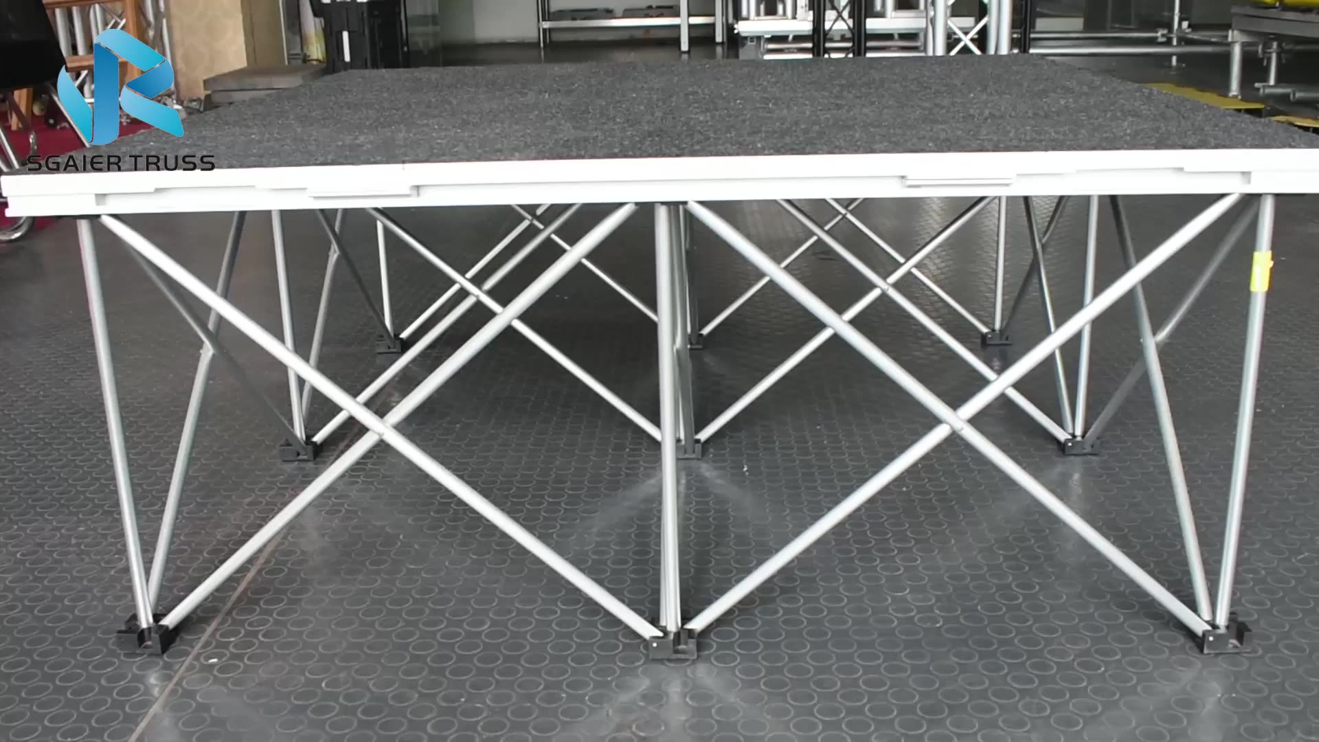 4x4 Aluminium Stage Spider Staging Equipment From Sgaier Truss
