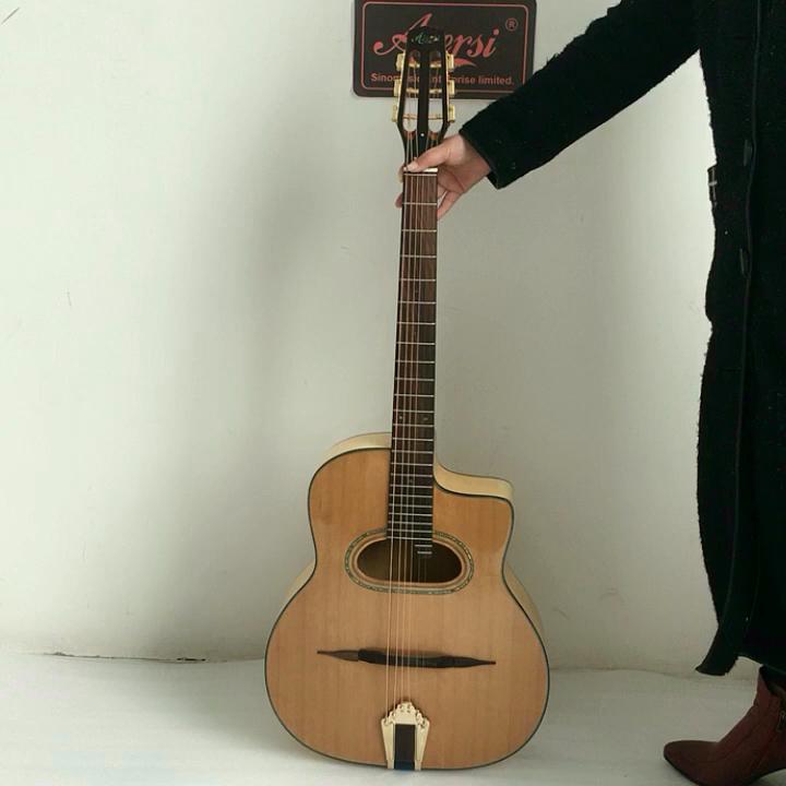 Aiersi Merk handgemaakte massief archtop Grande Bouche maccaferria Gypsy jazz akoestische Gitaar
