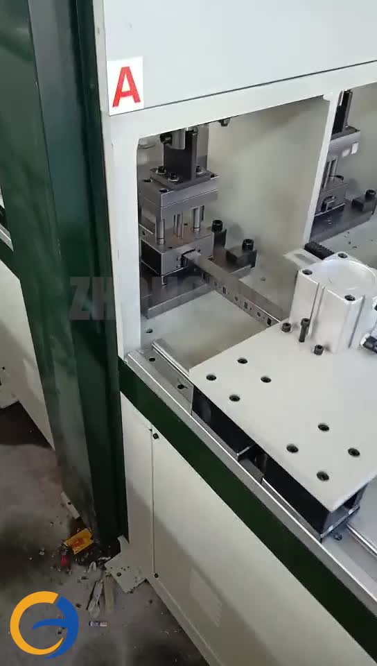 Square Puncher Cnc Pipe Punch Hole Tube Punching Machine