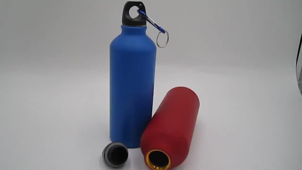 500 ML de Alumínio garrafa de água com mosquetão