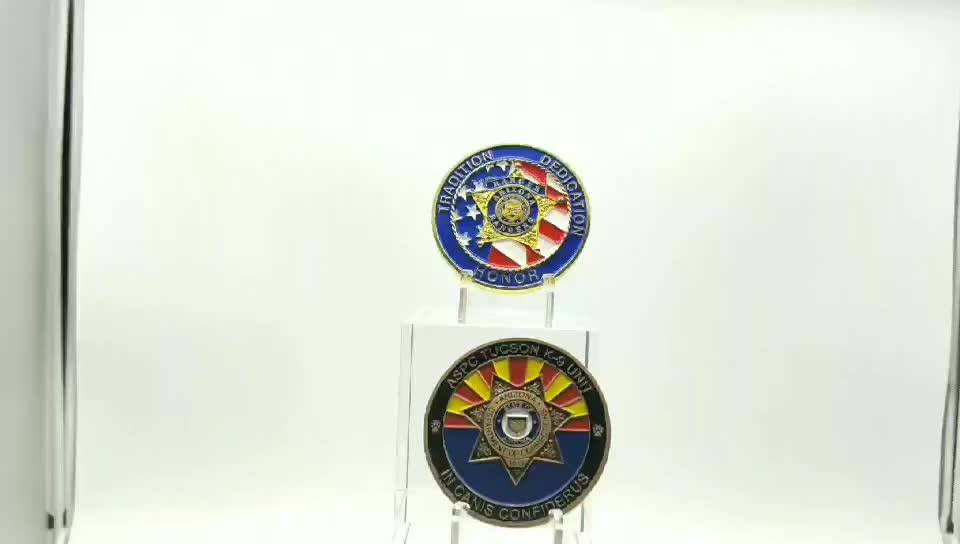 Custom Cheap American Flag Coin, US Military Gold Plated Challenge Coins Souvenirs No Minimum