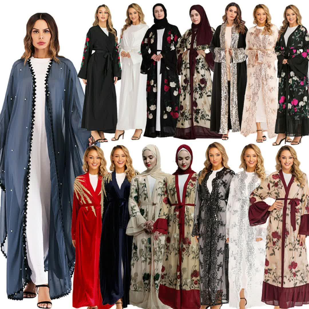 महिलाओं के लिए 2020 आकस्मिक मुस्लिम कपड़े पट्टी कफ्तान दुबई Abayas पोशाक बड़े आकार इस्लामी Abaya पोशाक