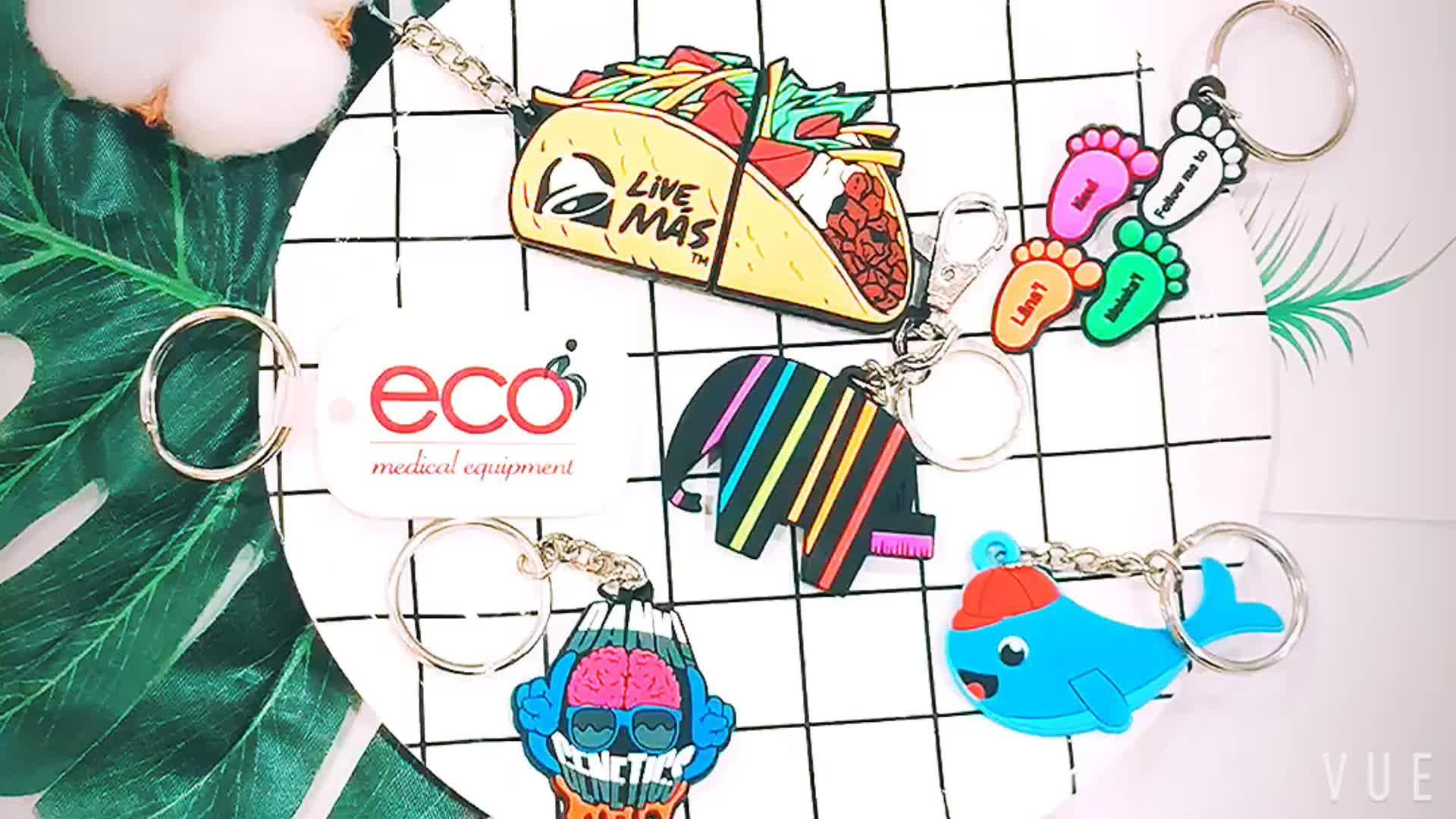 Promotional Gifts Custom Soft PVC Keychain 3D PVC Rubber Carton Cute Key Chain