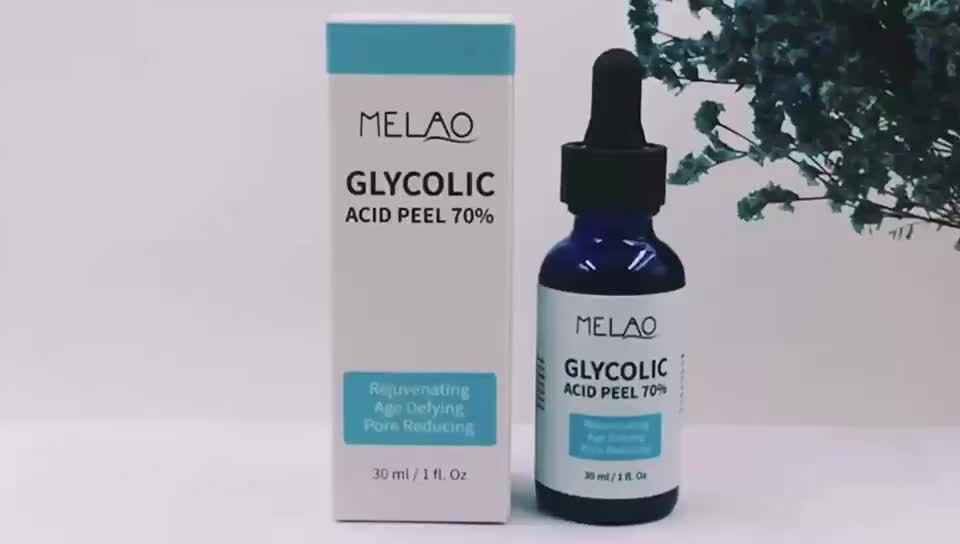 Wholesale Face Care Glycolic Acid Face Peeling Serum Whitening Anti-wrinkle AHA Lactic acid Serum