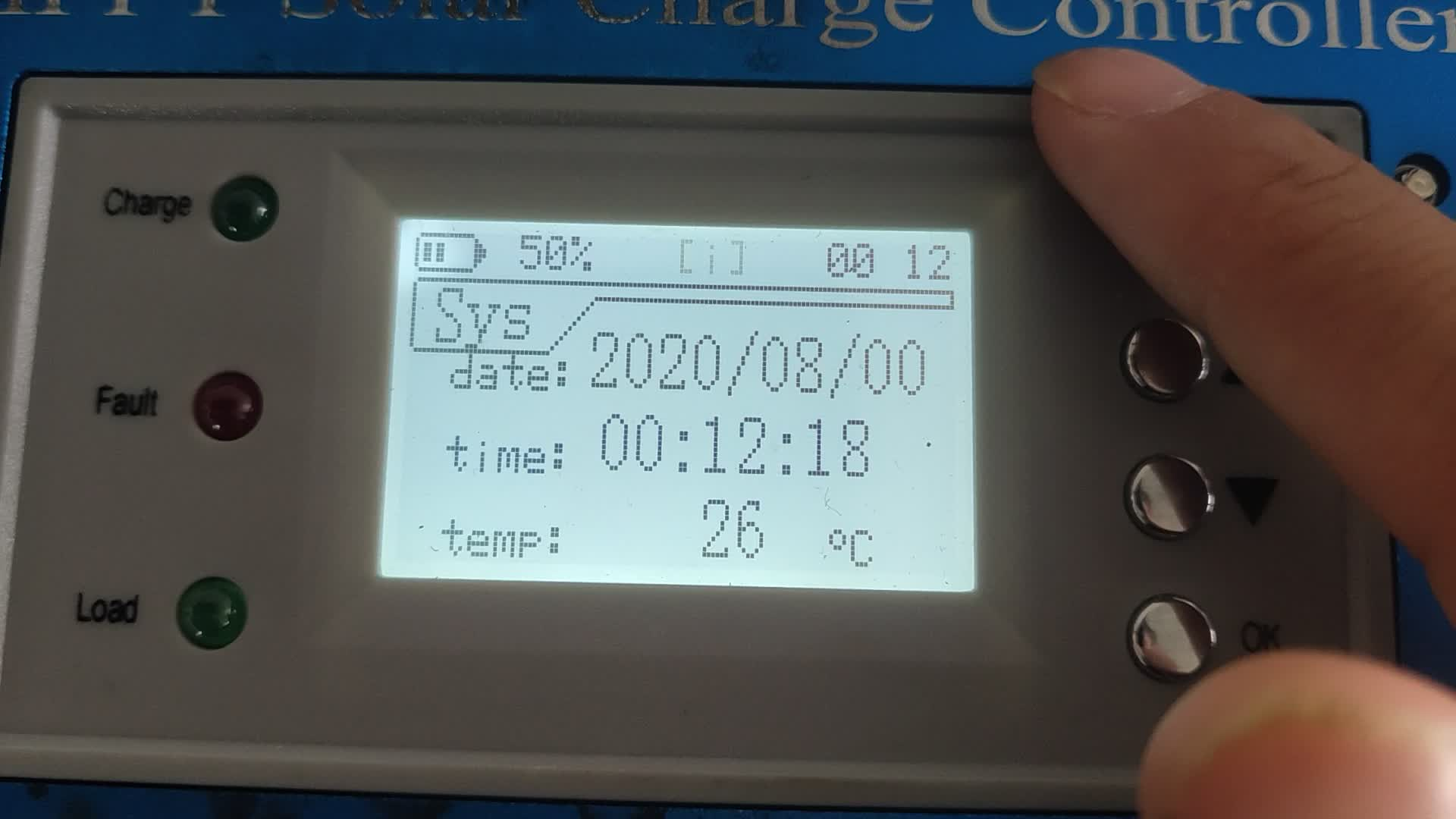 Gaoneng Solar hybrid 12v 24V 60A mppt คอนโทรลเลอร์ชาร์จพลังงานแสงอาทิตย์