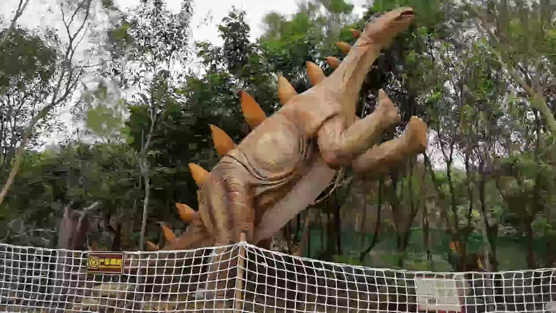 동물원 3D 디노 모델 야외 놀이터 로봇 공룡