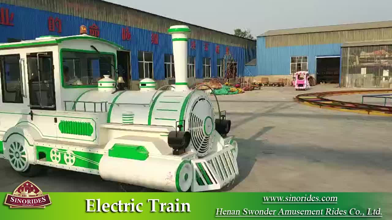 amusement park electric outdoor trackless kids train ride