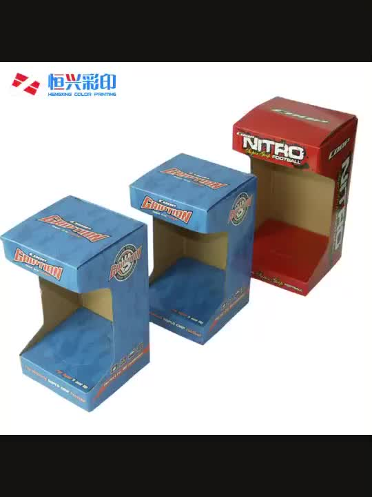 Pop Up 3D Cardboard Counter Displays, Display box, PDQ Box for Bottles
