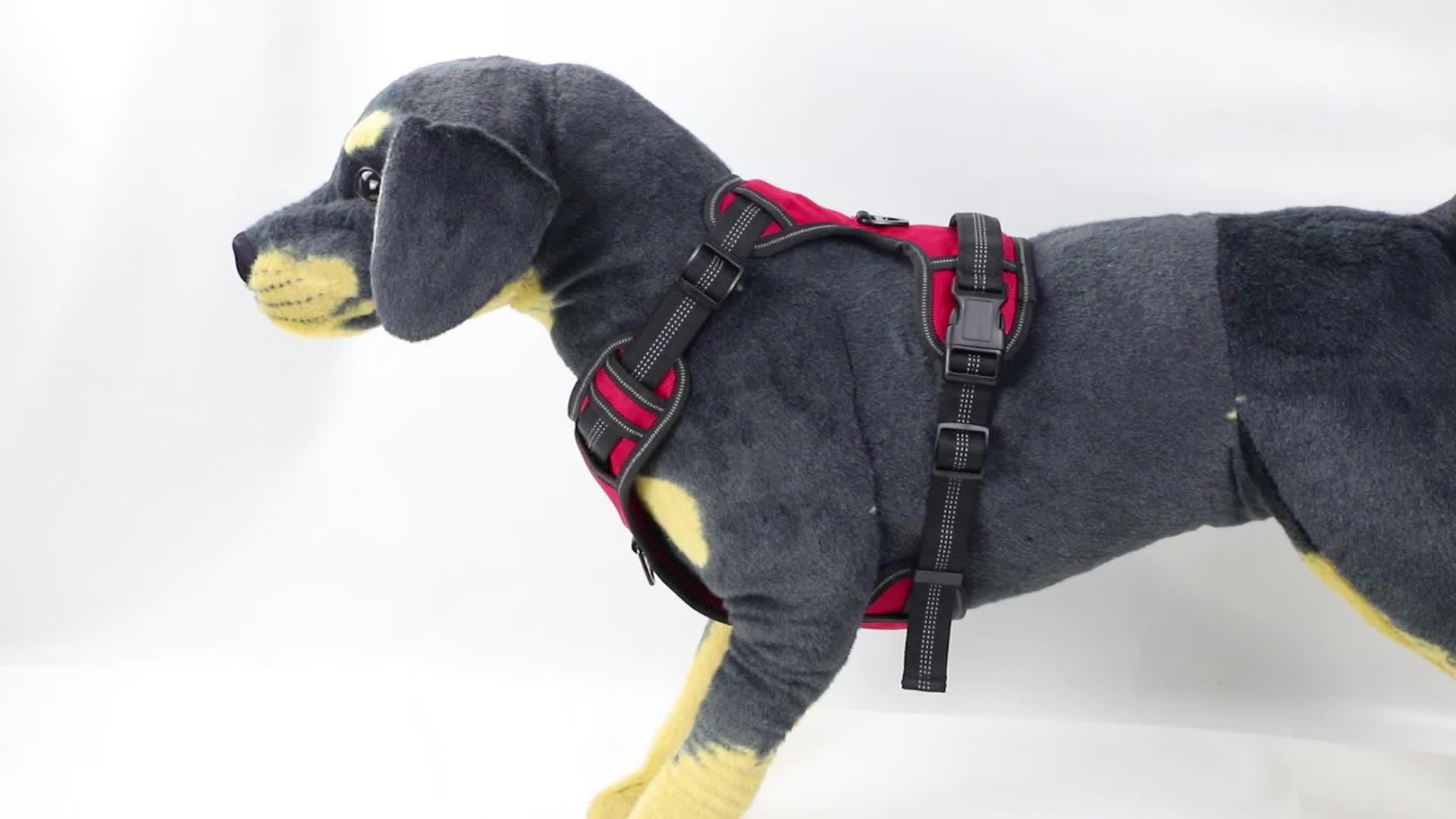 Entraînement en plein air réglable sans traction pour animaux de compagnie gilet de harnais de chien