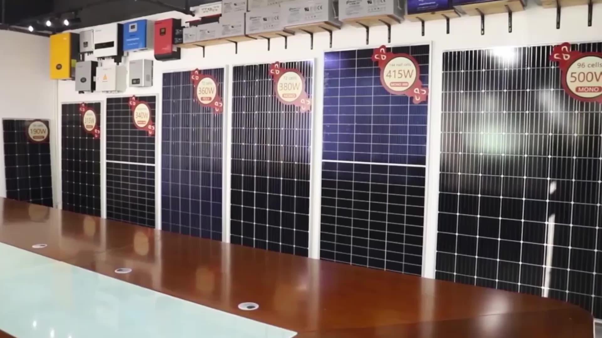 Full All Black Solar Panel Mono PERC 360w 370w 380w for European Market
