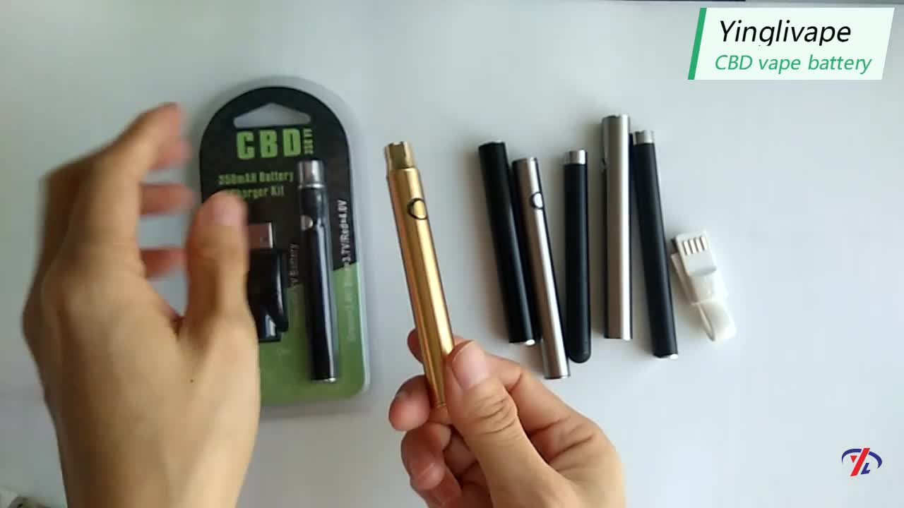 High quality pen vape battery with USB charger,510 Thread battery preheat and adjustable