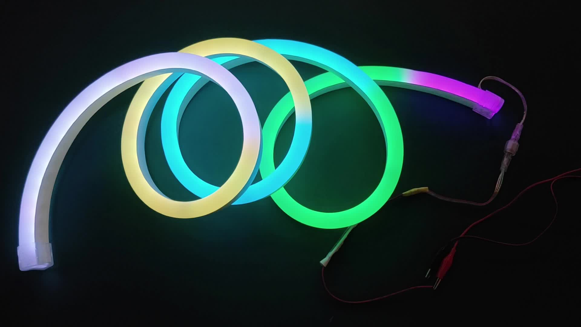 Full Color led flex rope decorative Neon lights LED RGB with IC 5050 WS2811 DC24V