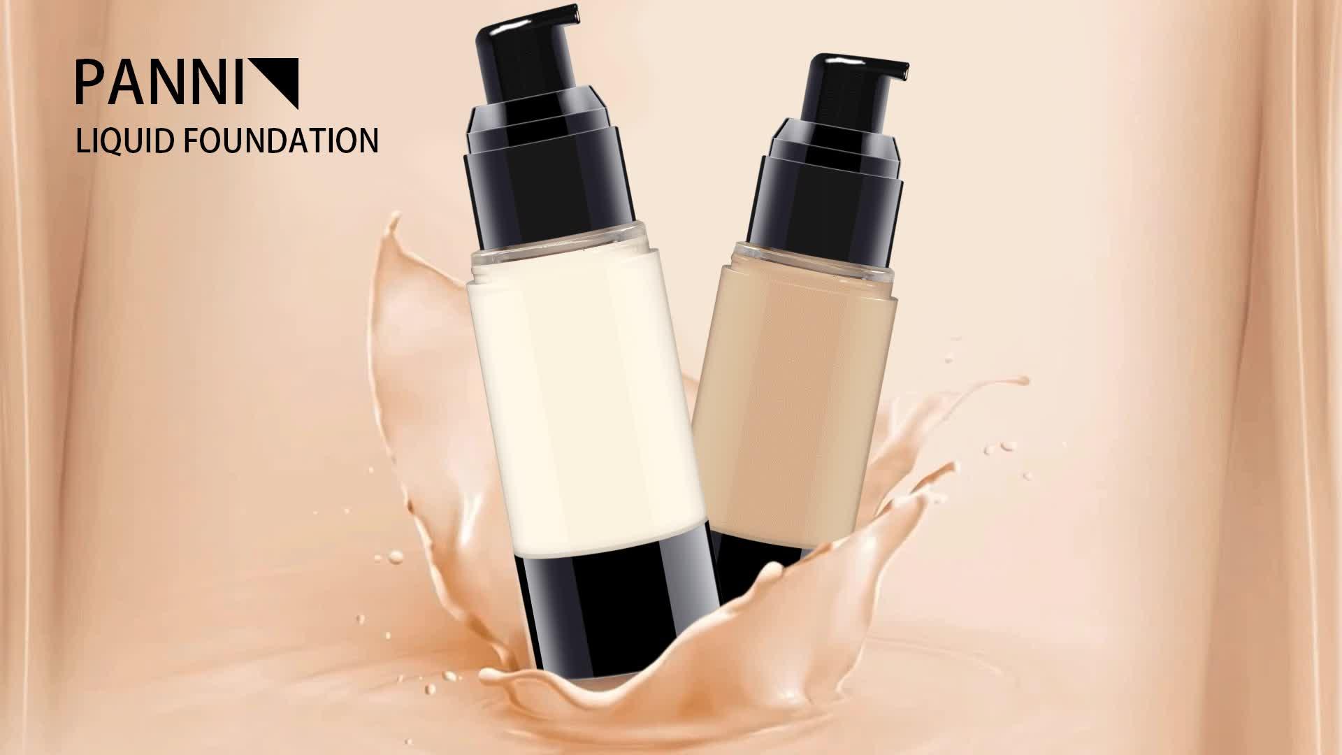Cakupan Penuh Tahan Lama untuk Semua Jenis Kulit Liquid Makeup Foundation