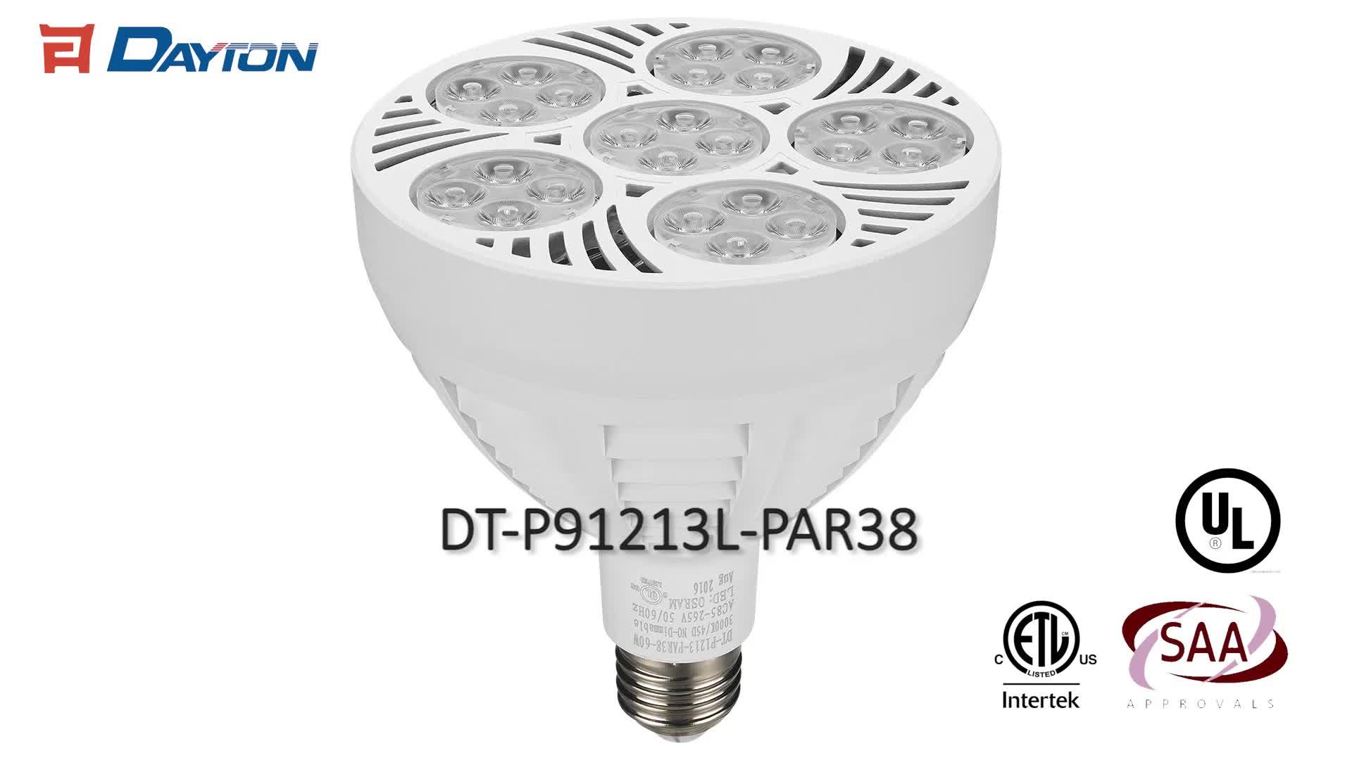 US Standard cETL ETL LED Bulb 60w PAR38 3000k 4000k 6000k 7000k 8000k 10000k Jewelry LED spotlight PAR38