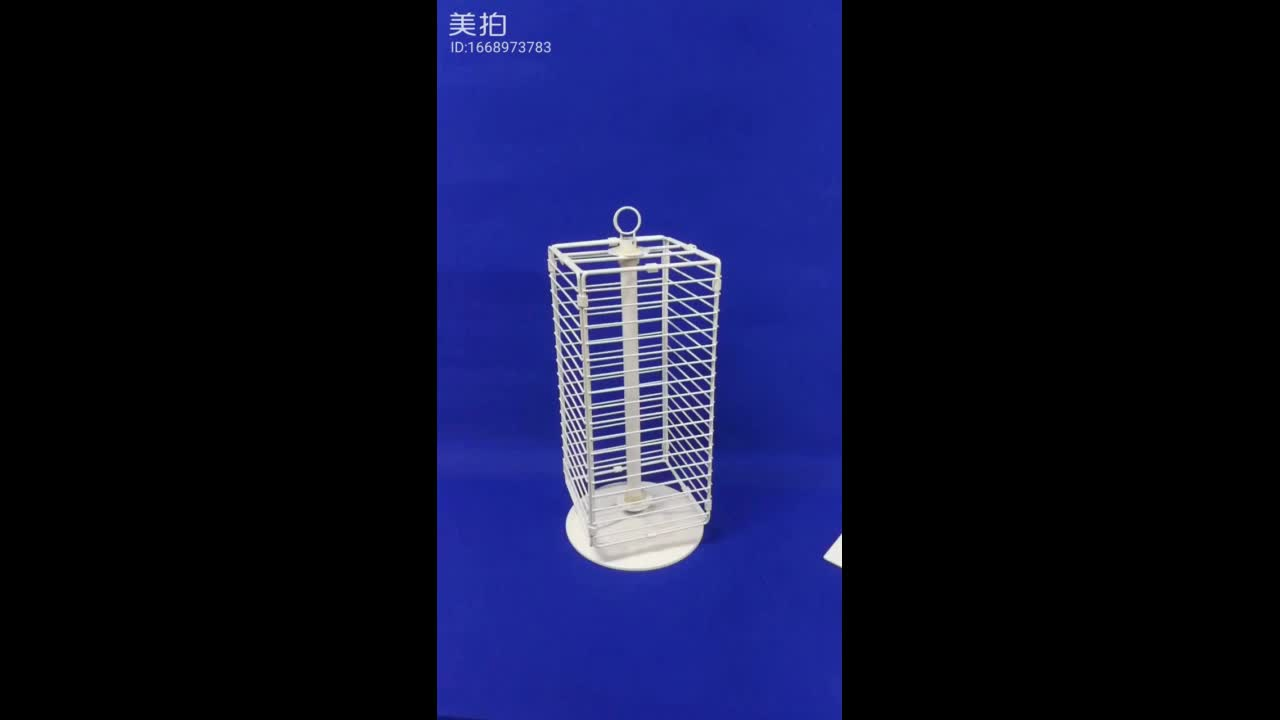 retail shop promotion custom wire grid wall table standing  swivel counter display rack