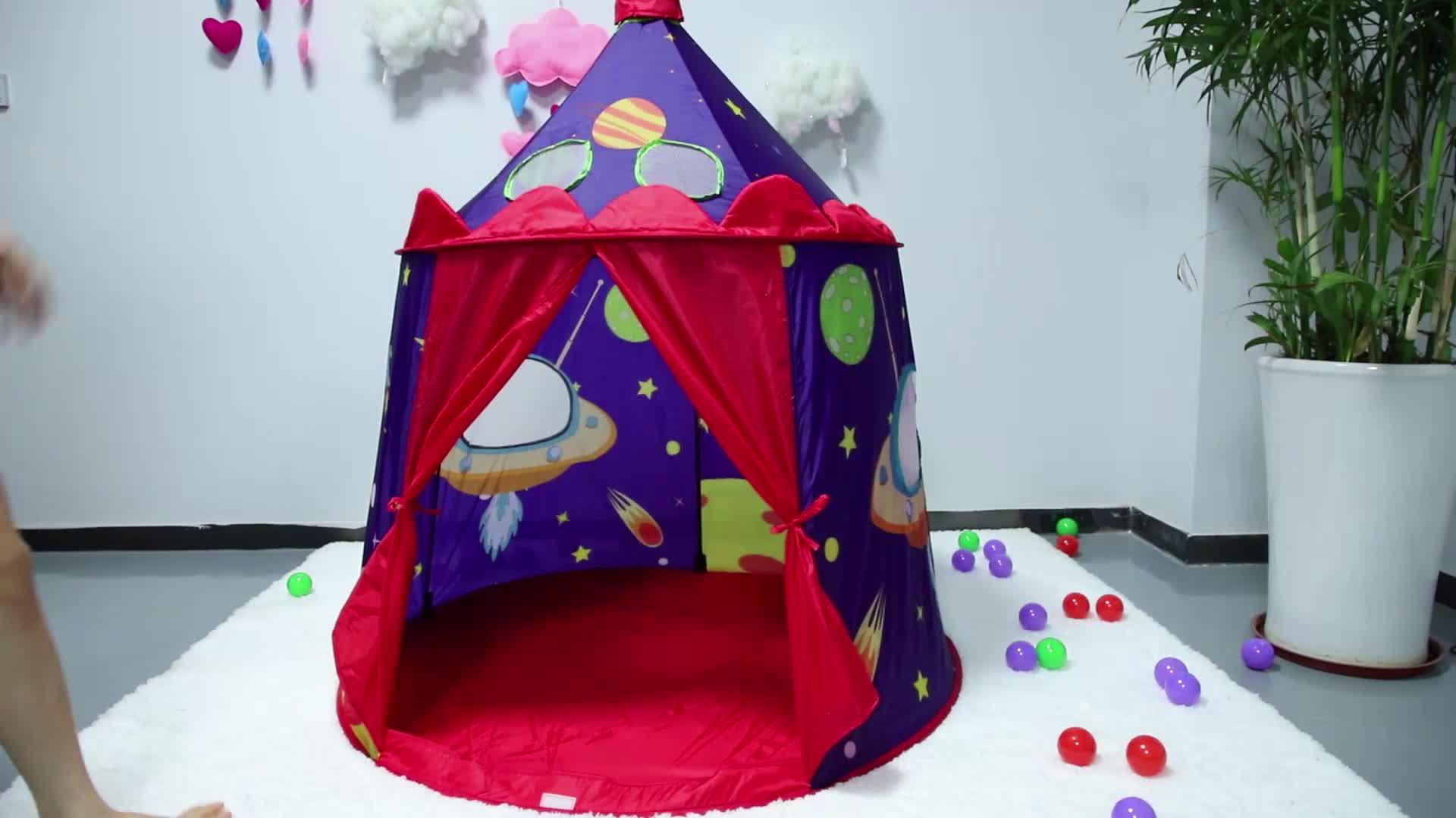 أطفال منزل ألعاب خيمة للبنين والبنات ، الأميرة خيمة لعب على شكل قلعة للداخلية والخارجية