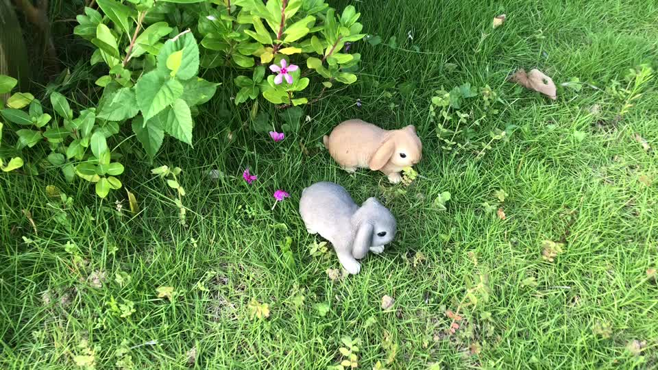China manufacturer wholesale cute mini realistic garden decoration resin rabbit figurines
