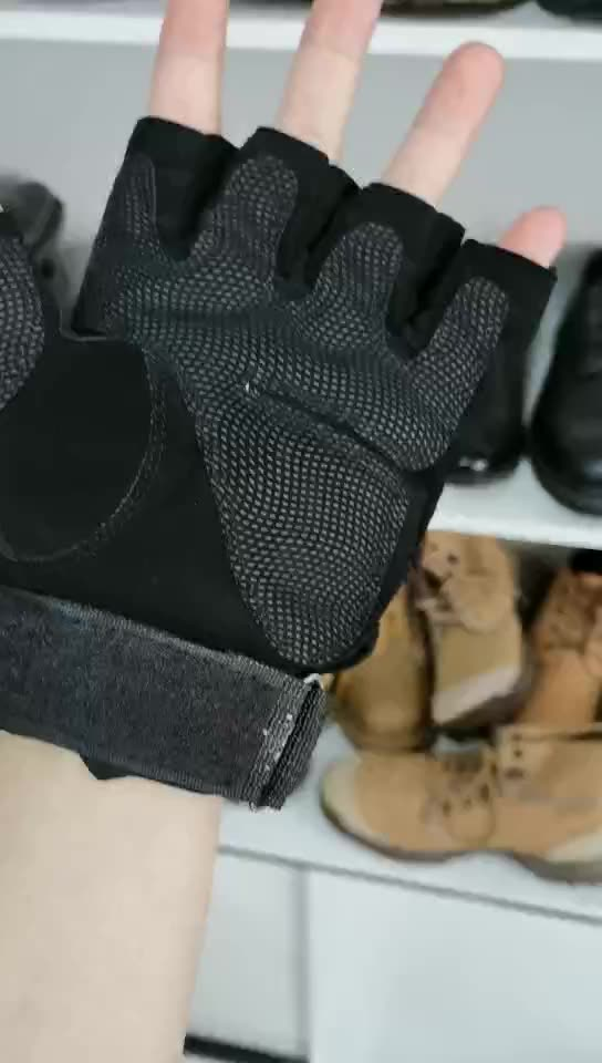 Factory Direct Supply Cheap Anti-skid anti-cutting anti-wear breathable military combat leather half finger tactical gloves