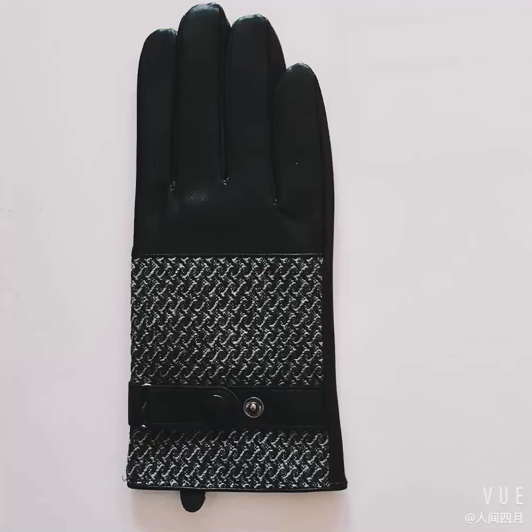 Haute qualité pas cher hiver chaud moto conduite hommes en cuir gant
