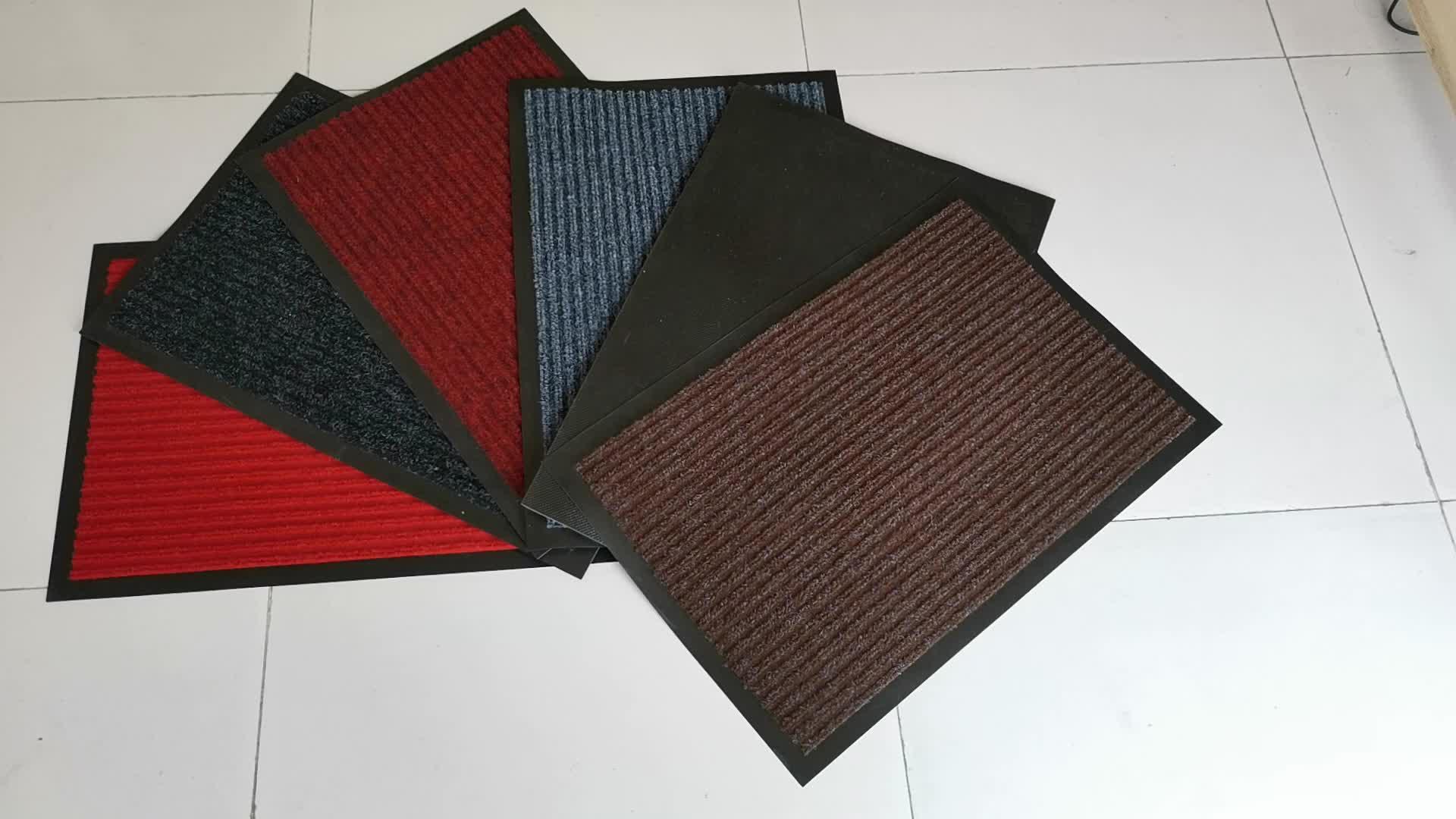 Heavy duty black PVC rug deur mat vloermatten