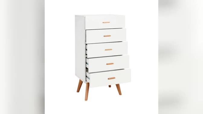 Living room wood furniture modern white storage drawers cabinet chests