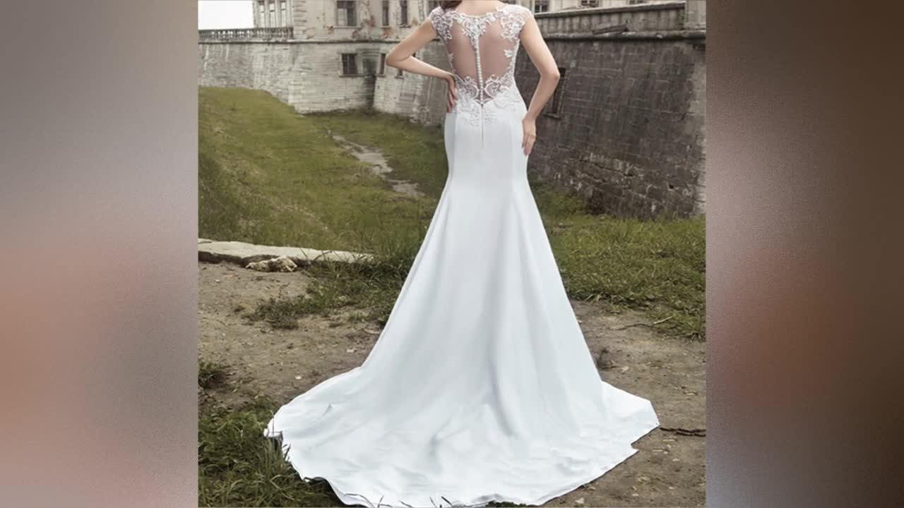 Sexy Mermaid Bridal Gowns 2019 Africa Wedding Dresses with Fishtai Cheap Wedding Dress Bridal Gown White Lace Wedding Gowns S166