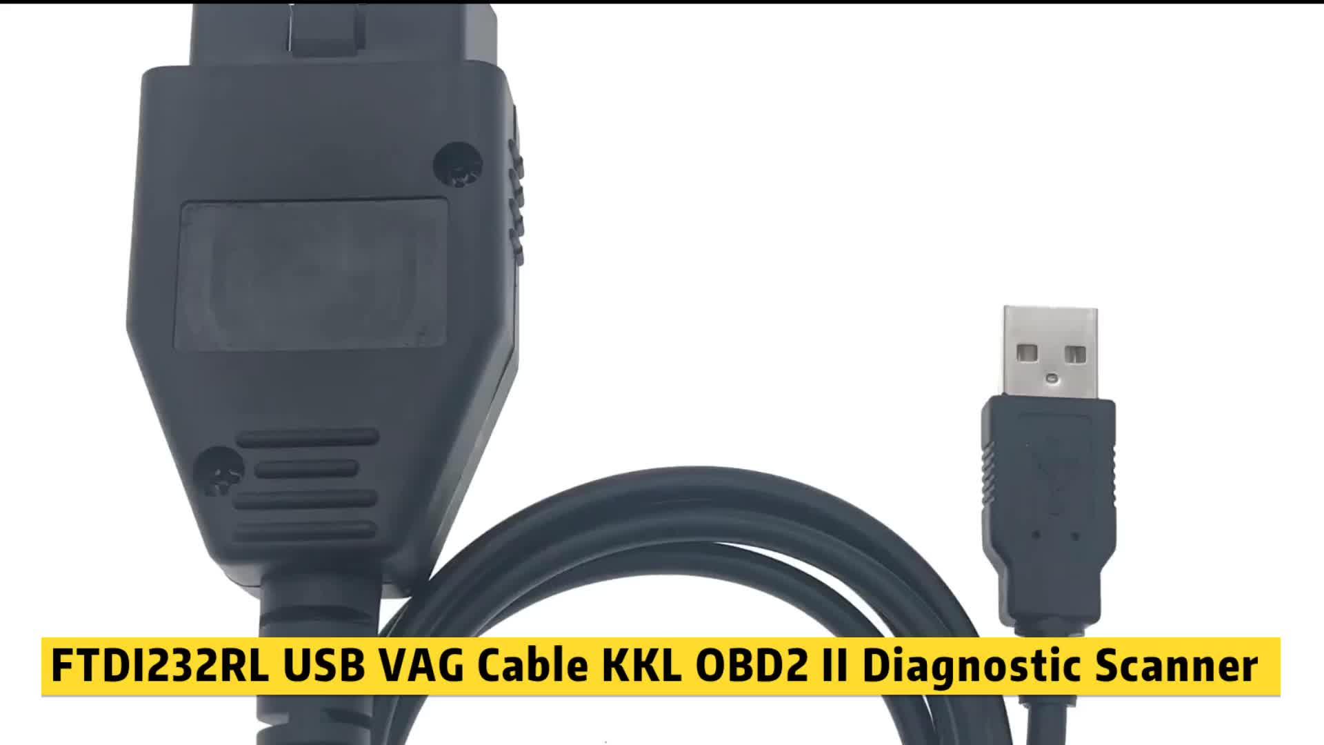 FTDI232RL USB VAG Cable KKL OBD2 II escáner de diagnóstico