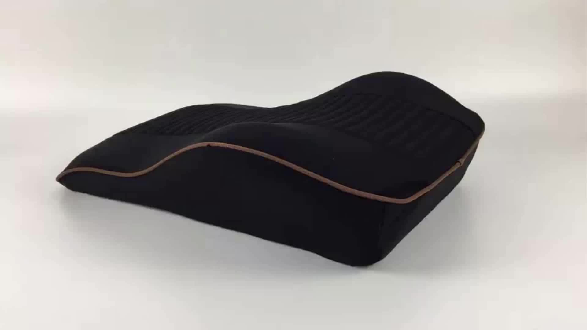 Memory Foam Gel Car Seat Back Cushion Orthopedic Design For Back Pain Relief And Support For Office Chair, Car Seat.