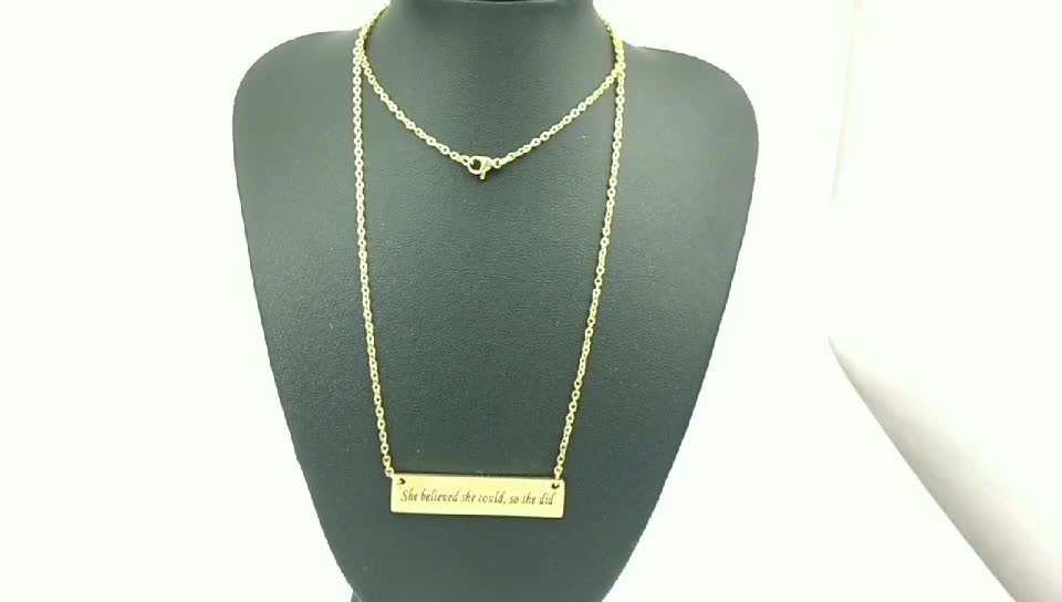 316L Stainless Steel Jewelry Inspirational in Silver Jewelry New Style She Believed She Could So She Did Necklace