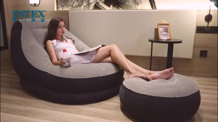 INTEX 68564 Ultra Lounge Inflatable Sofa Kursi Tiup dengan Ottoman