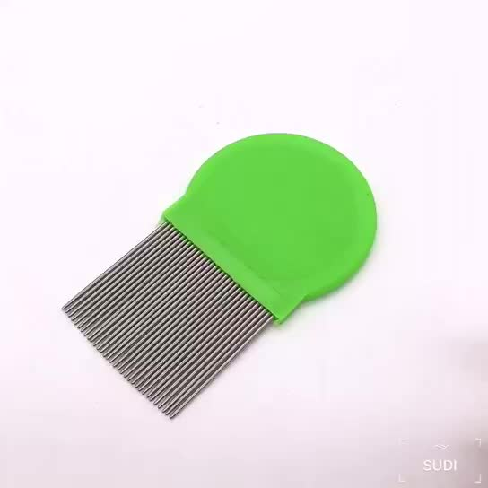 Fairy tales lice comb metal  terminator stainless steel plastic head  nit comb for lice