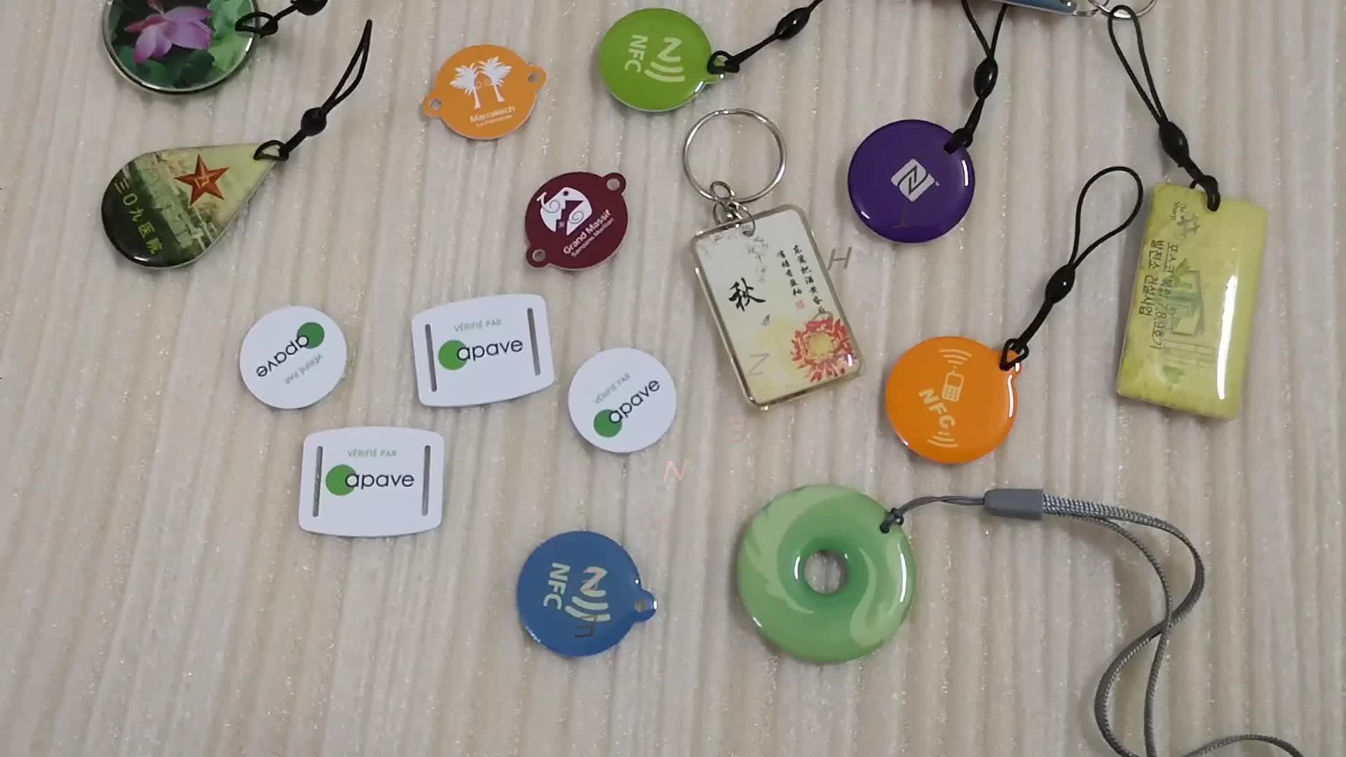 13.56MHz Özelleştirilmiş Baskı Epoksi Mini Yıkanabilir NFC Pet Etiketi