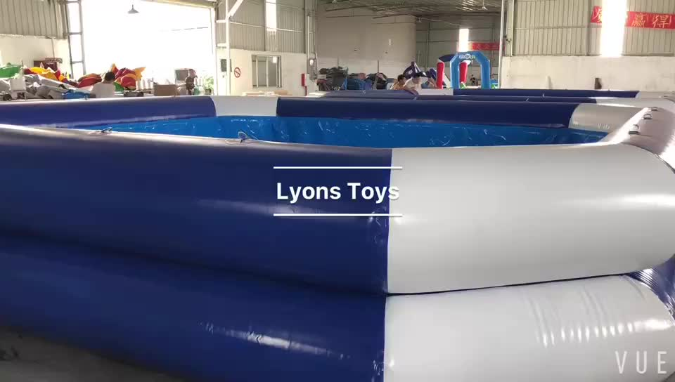 Summer Custom Double Tube Inflatable Swimming Pool 1.2m Water Pool For Commercial