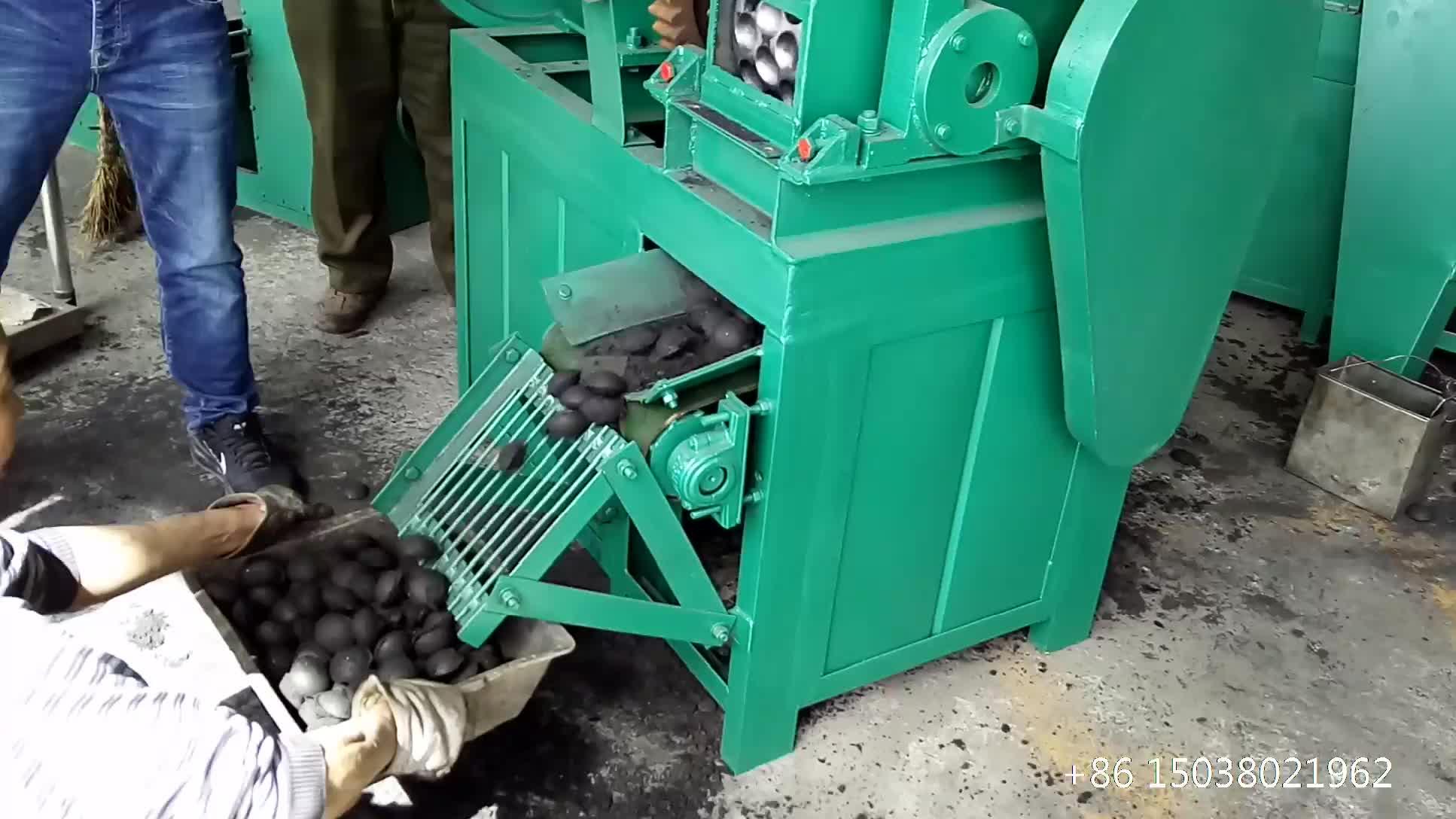 פחם כדור עיתונות לבנית מכונה