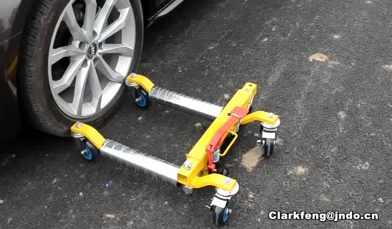 1000 kg de positionnement de véhicule hydraulique roue dolly