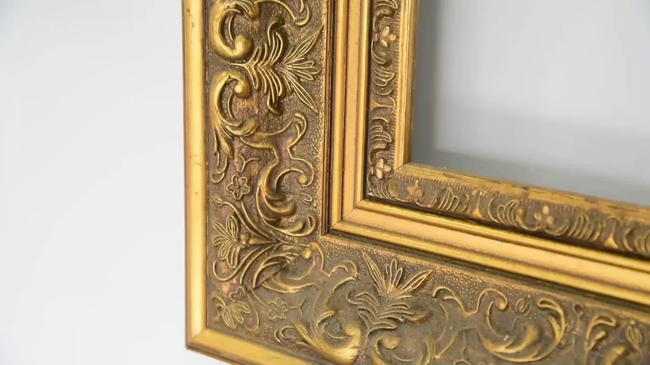 Bingkai Antik Barok Hiasan Bingkai Emas Kayu Dekorasi Rumah Eropa Mewah untuk Lukisan