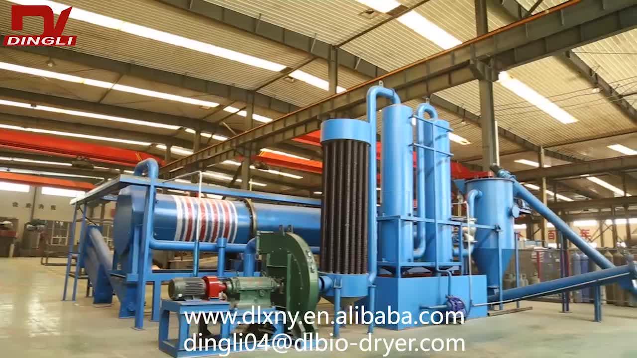 1.5-2.0 t/h Biomassa Tambor Rotativo Fazer Forno De Carvão Vegetal para a Carbonização de Biomassa De Resíduos De Madeira Planta