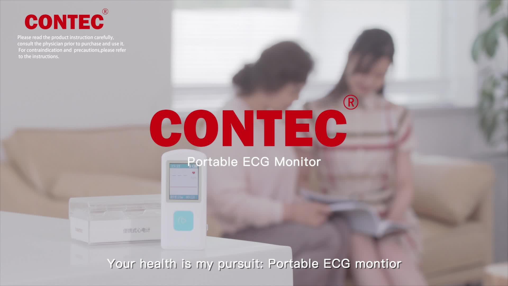 CONTEC PM10 ecg portátil telemetría ecg sistema de vigilancia